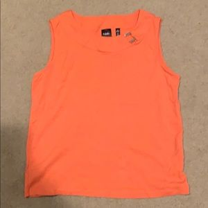 Orange sleeveless top NWOT